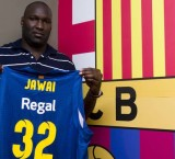 Nathan Jawai is welcomed to Barcelona